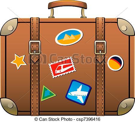Suitcase isolated over white. EPS 8, AI, JPEG