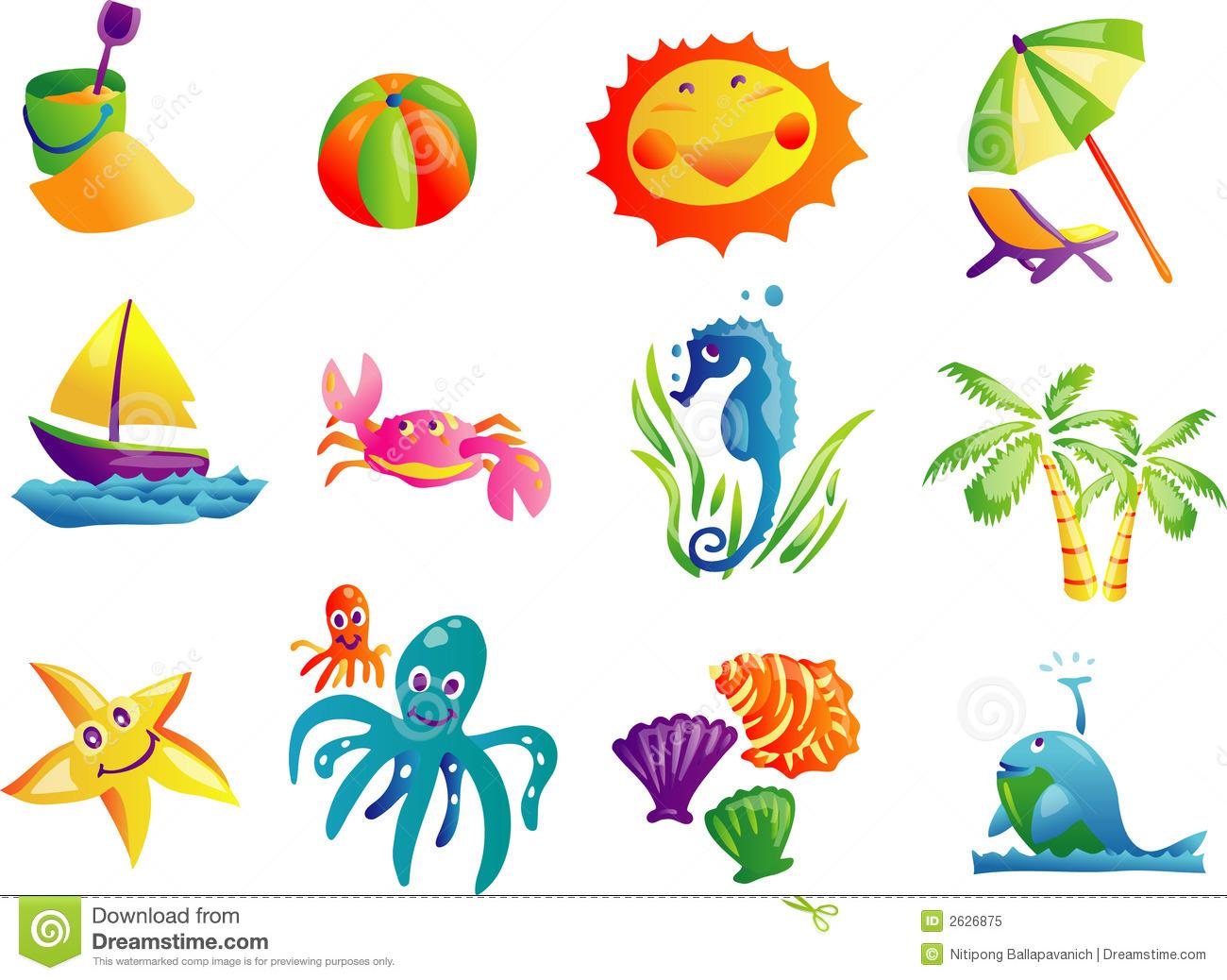 Summer Beach Travel Clip Art-Summer Beach Travel Clip Art-3