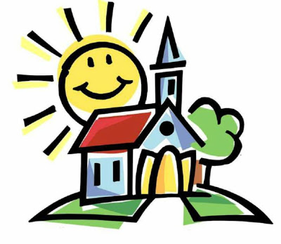 Summer church clipart