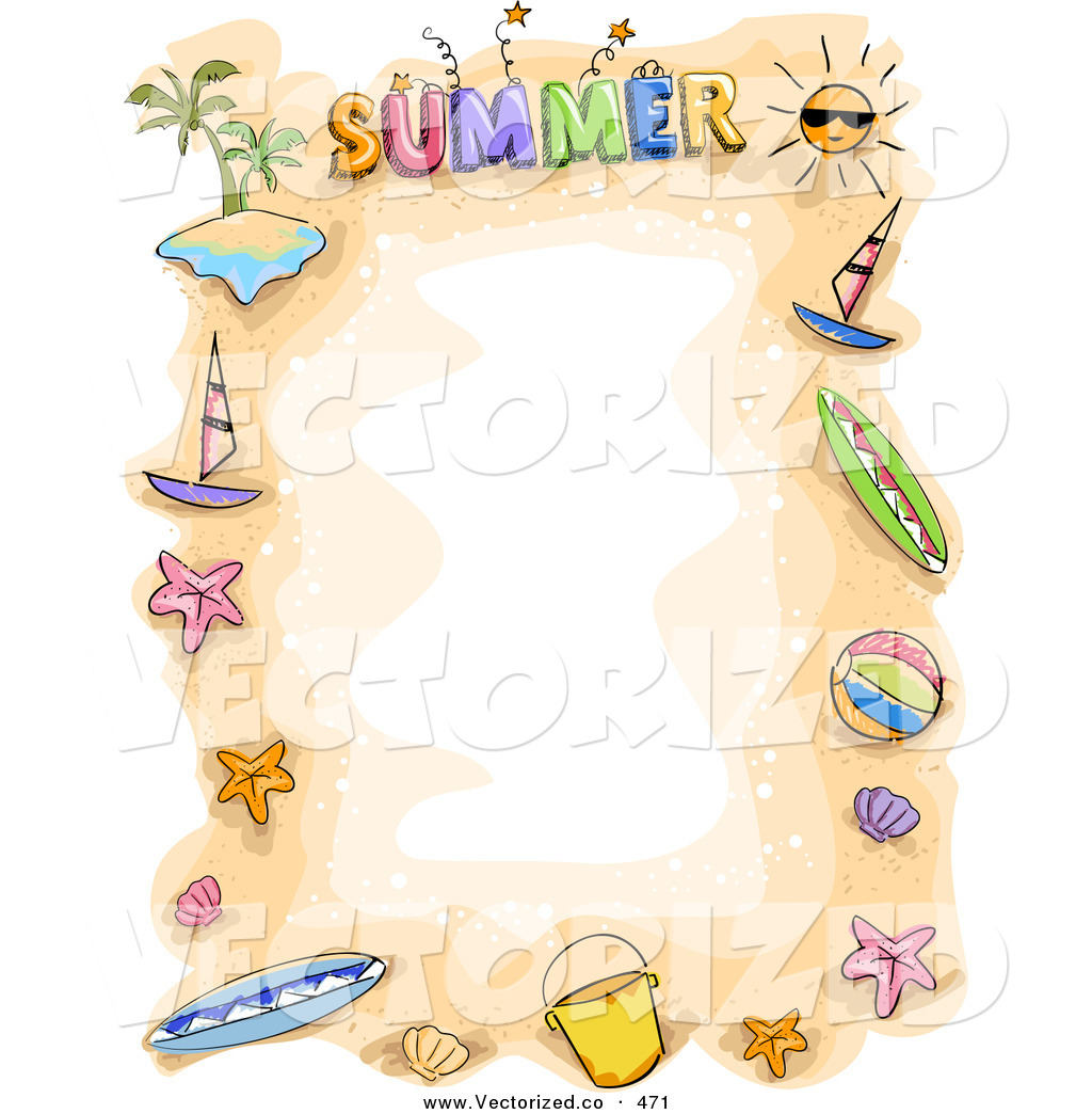 Summer Clip Art Borders This Summer Time-Summer Clip Art Borders This Summer Time Stock Vector-14