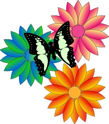 Summer Flowers Clip Art