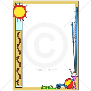 Summer Fun Borders Clipart #1-Summer Fun Borders Clipart #1-11