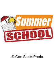Summer school stamp - Summer school grunge rubber stamp on.