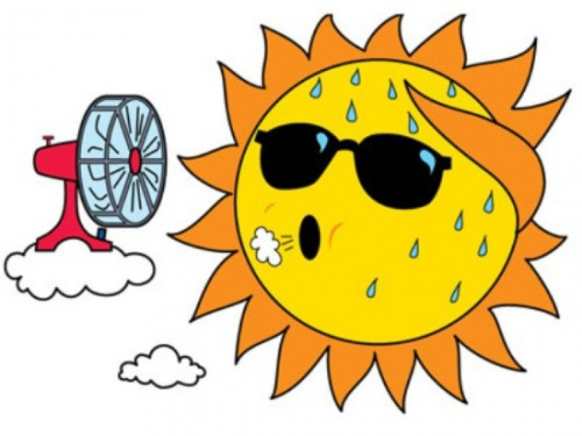 Summer sunbird lodge inside weather clipart
