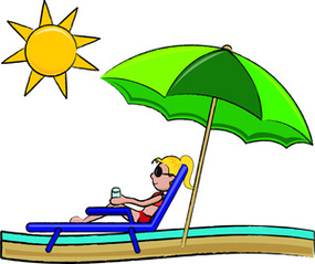 Summer Vacation Clipart Image Stick Girl-Summer Vacation Clipart Image Stick Girl In A Lounger At The Beach-8