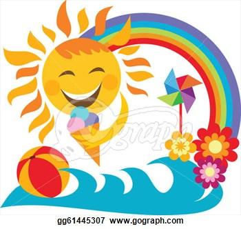 Summer Vacation Clipart Summer Vacation Happy Sun