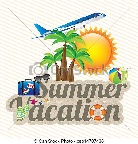 ... summer vacation design over white background vector... ...