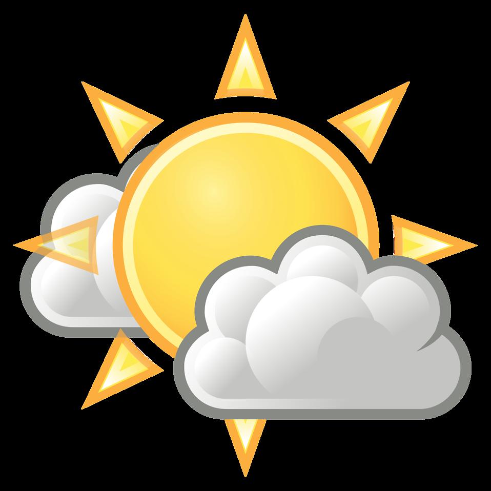 Sun And Clouds Clipart #19978-Sun And Clouds Clipart #19978-11