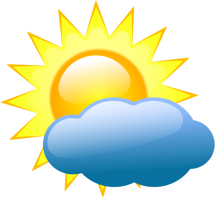 Sun cloud. And clouds clipart