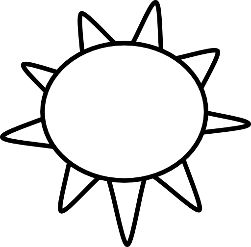 Sun Clip Art Outline