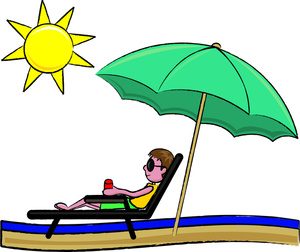 Sunbathing Clipart Image Clipart Illustration Of A Young Man