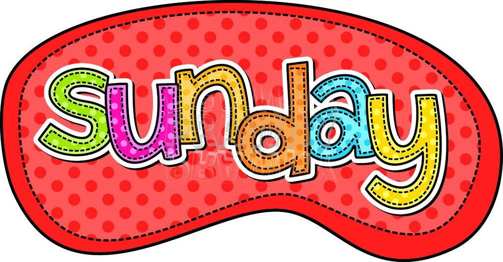 Sunday Text - Days of the Week Typographic Clip Art u2013 Prawny Clipart Cartoons u0026amp; Vintage Illustrations .