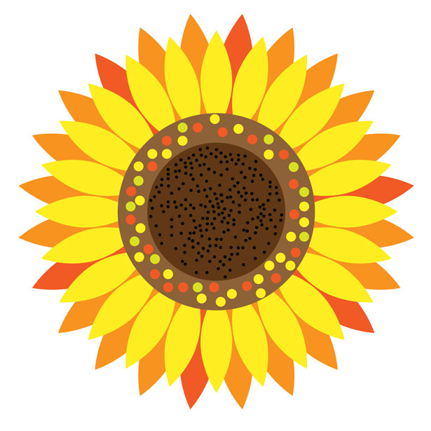 Sunflower clip art dromgbm to - Sun Flower Clip Art