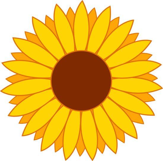 Sunflower Clip Art | Happy Bright Yellow-sunflower clip art | Happy Bright Yellow Sun Flower-4