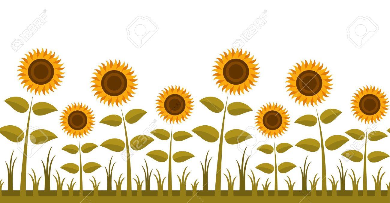 Sunflowers clipart border - ClipartFest