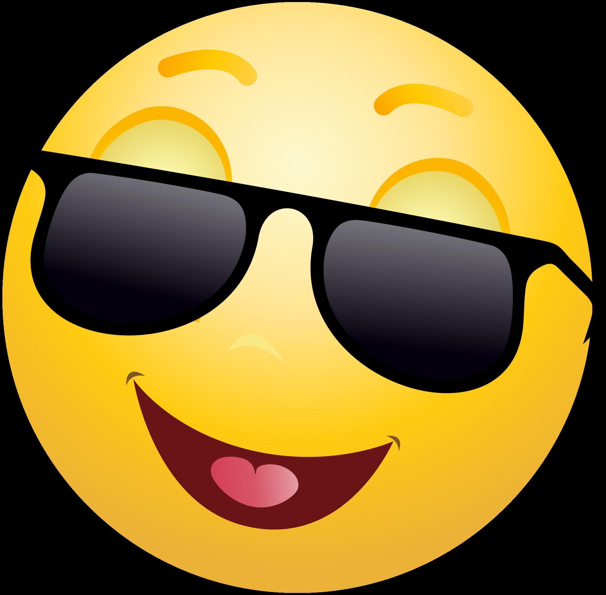 Sunglasses Emoji Clipart-Clipartlook.com-2038
