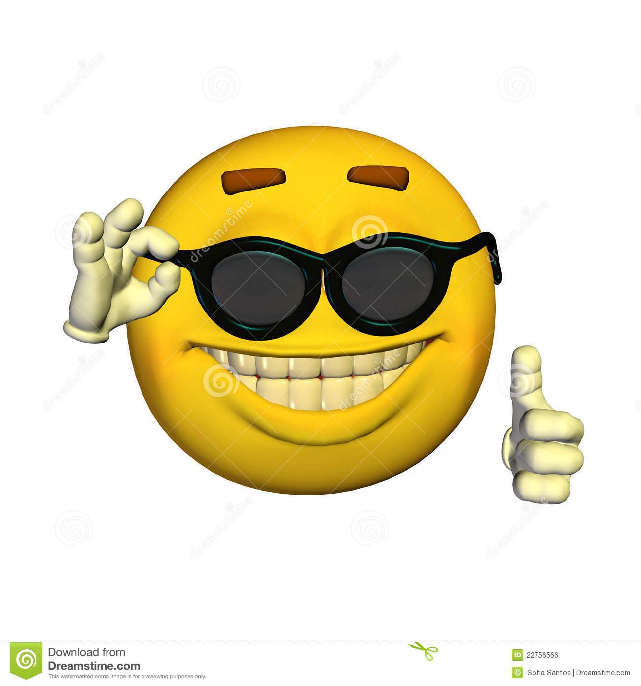 Emoticon - Sunglasses stock illustration. Illustration of expression -  22756566