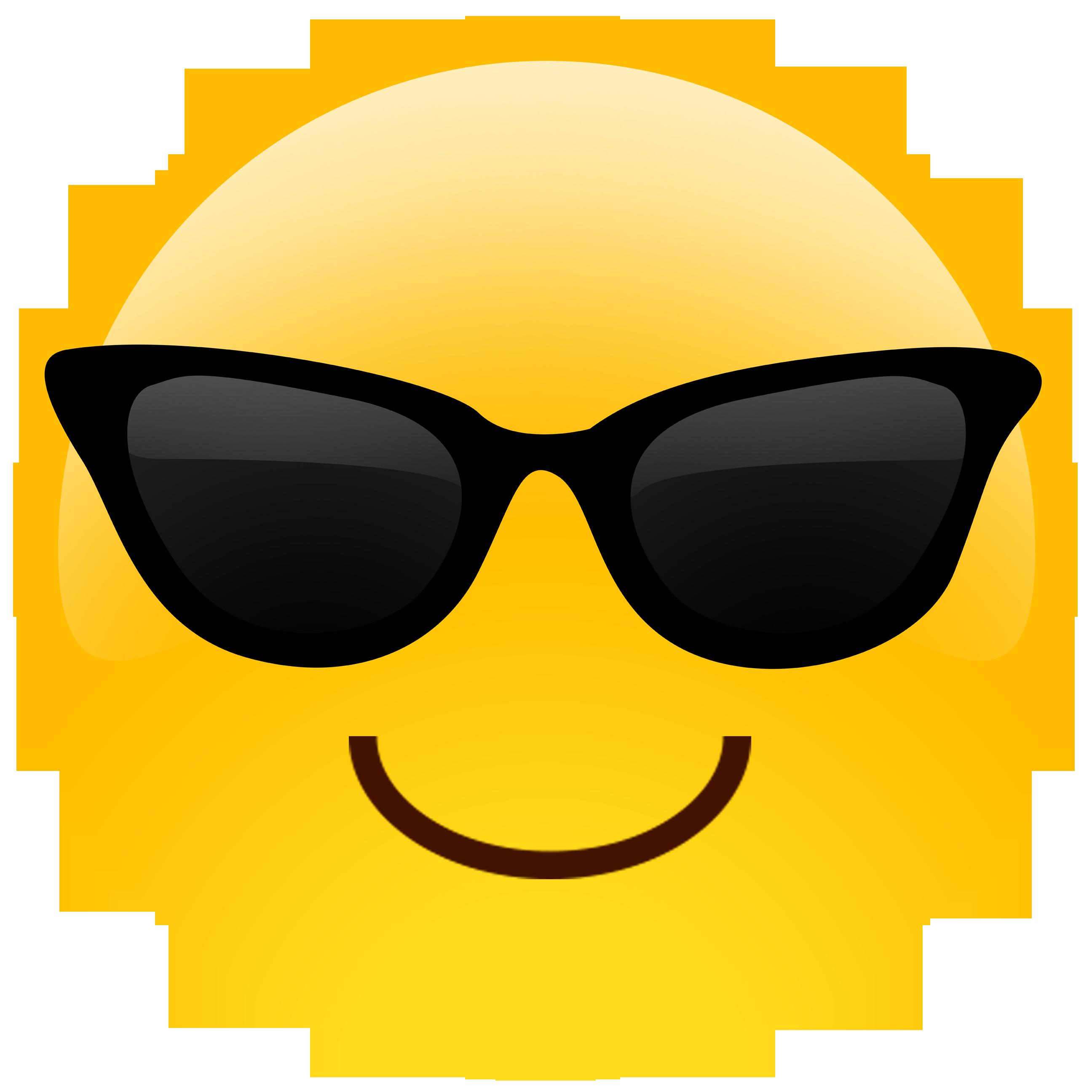 Oversized Sunglasses Cutout Emoji by Build-A-Head