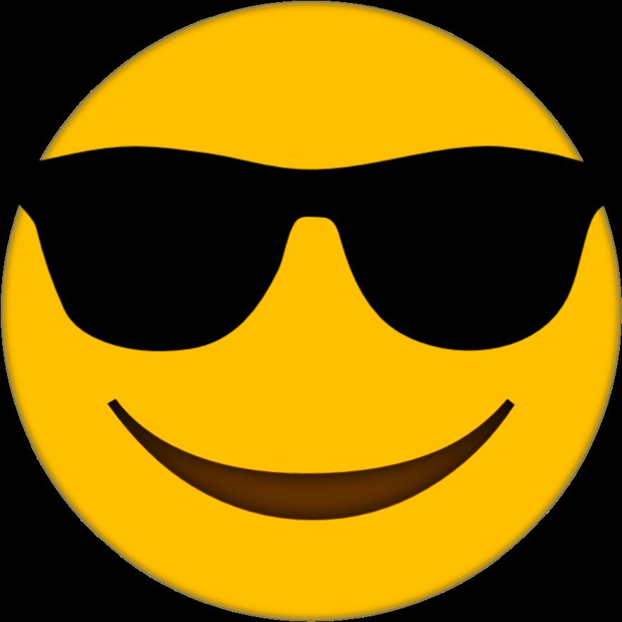 Sunglasses clipart emoji #7