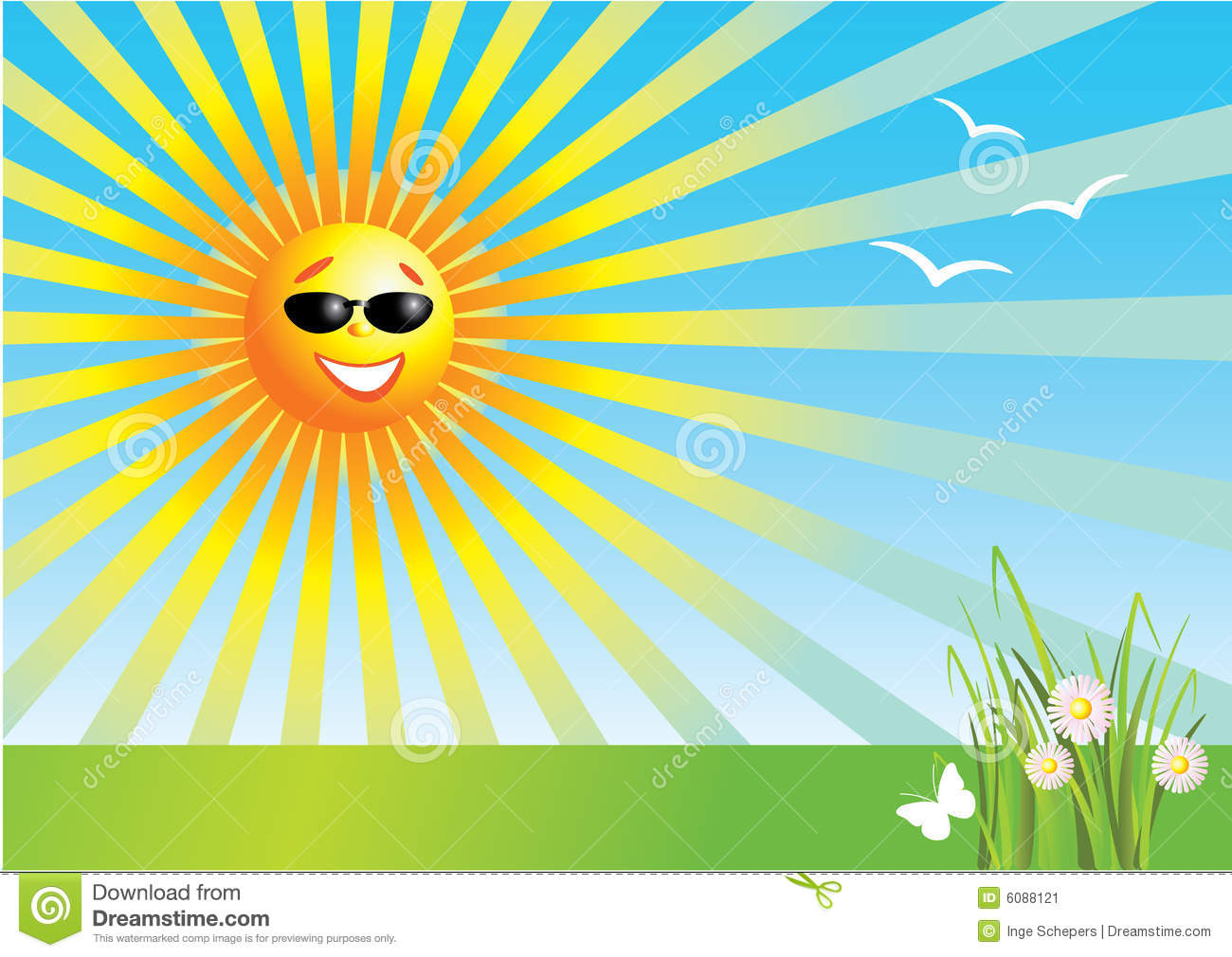 Sunny Day Clipart #1