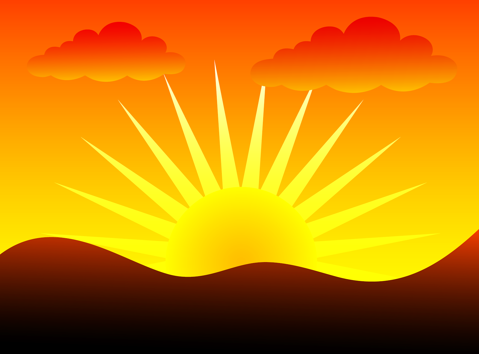 Sunrise eventing clip art free clipart images