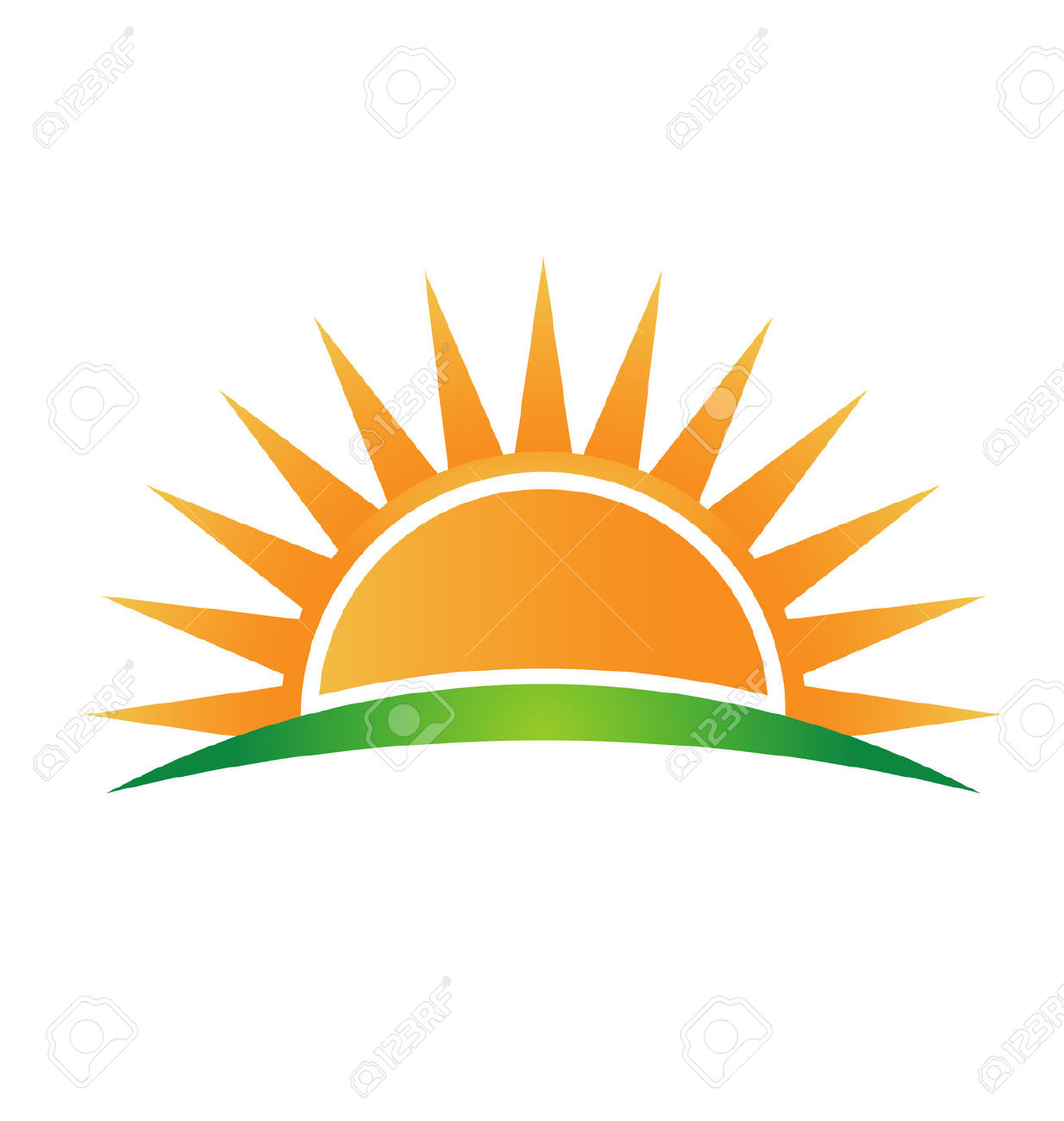 sunrise: Icon sun horizon