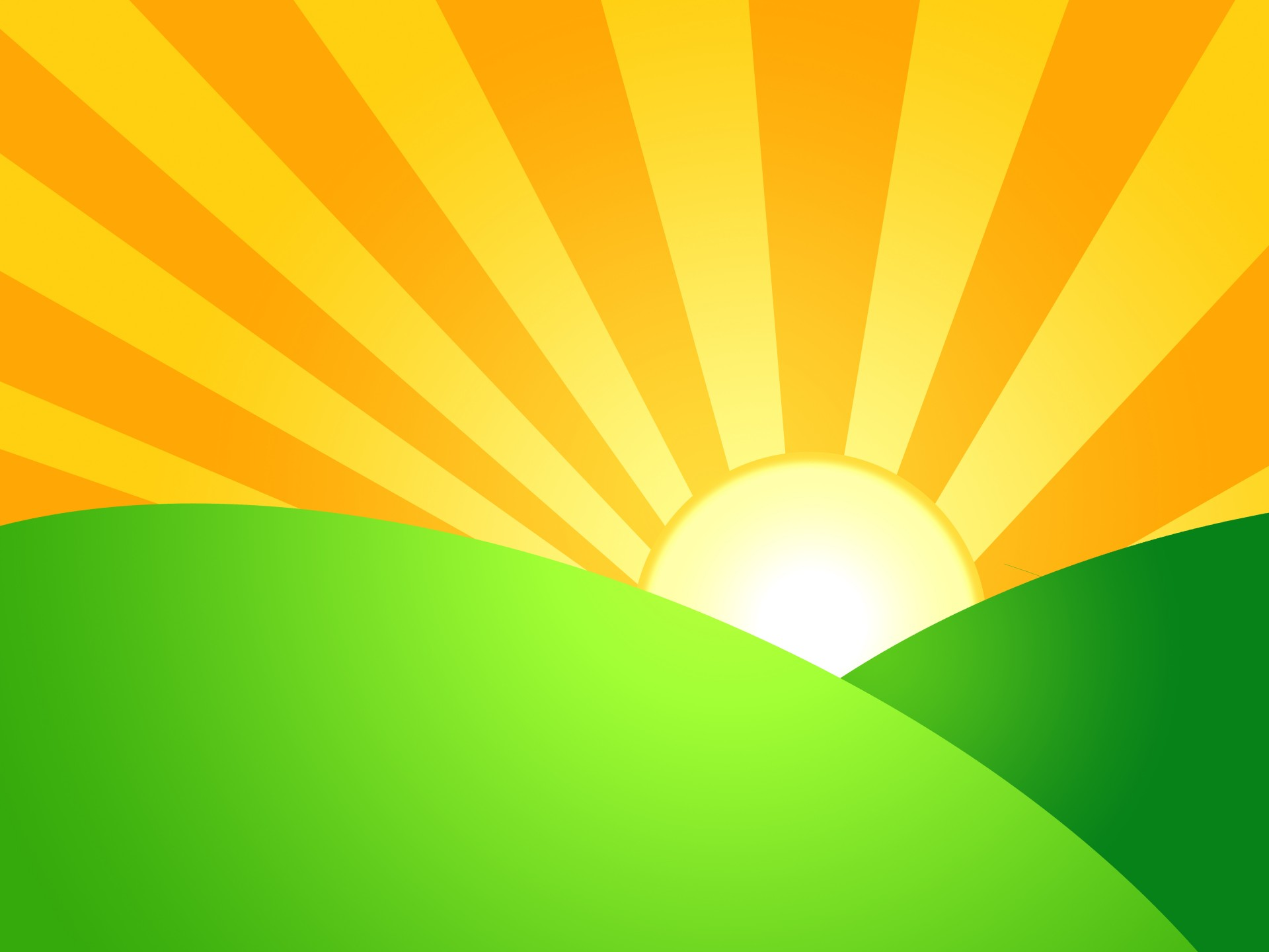 Sunrise Over Green Hills Free Stock Photo Hd Public Domain Pictures