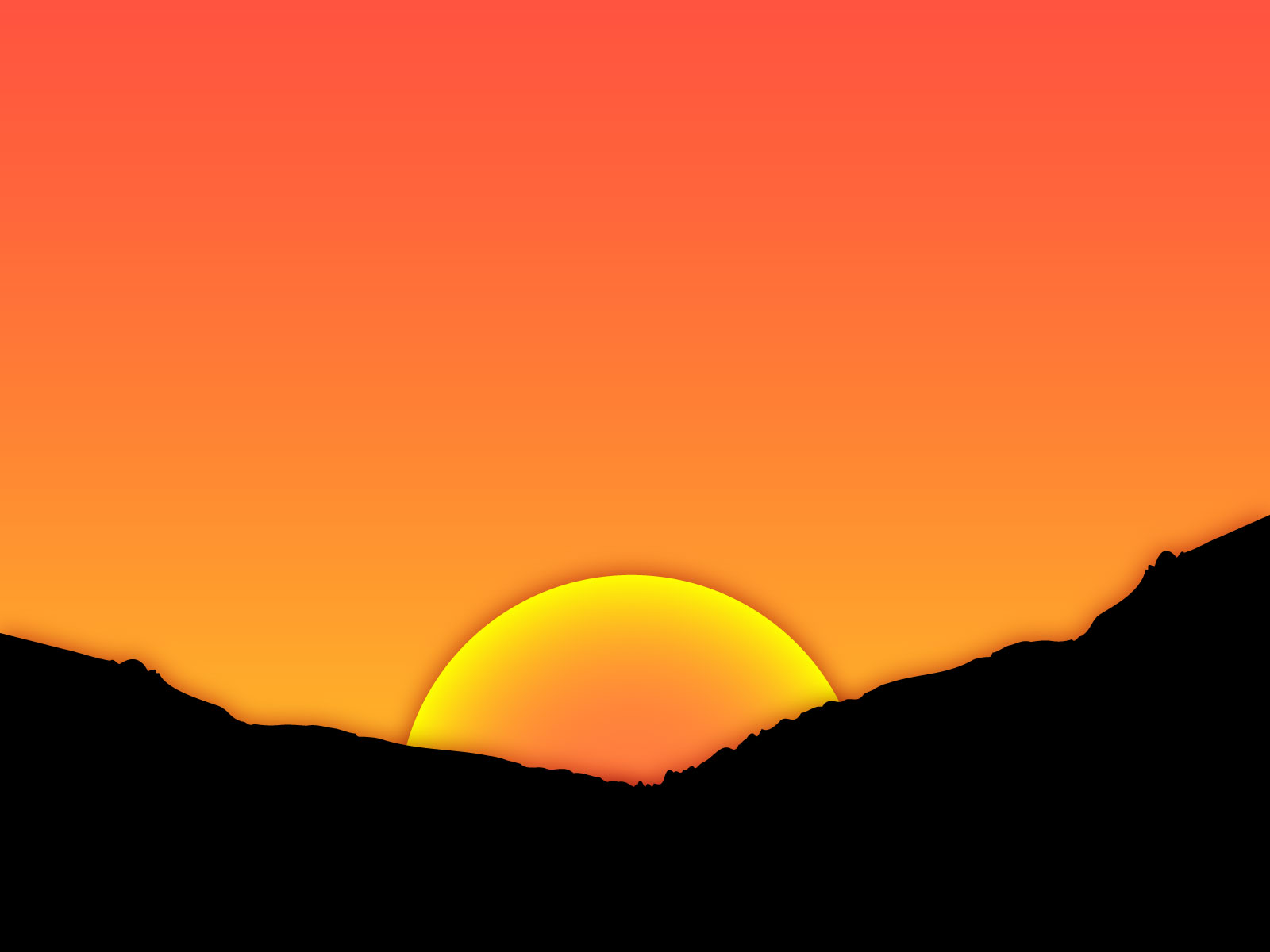 Sunset Cartoon Design for .