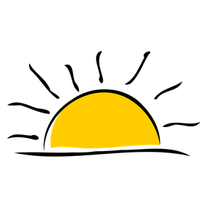 sunset clipart