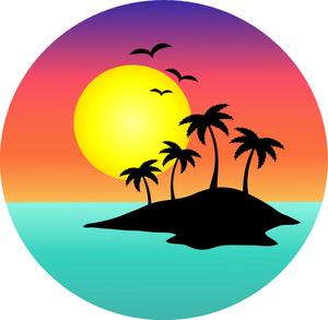 Sunset Palm Tree Clipart-Sunset Palm Tree Clipart-17