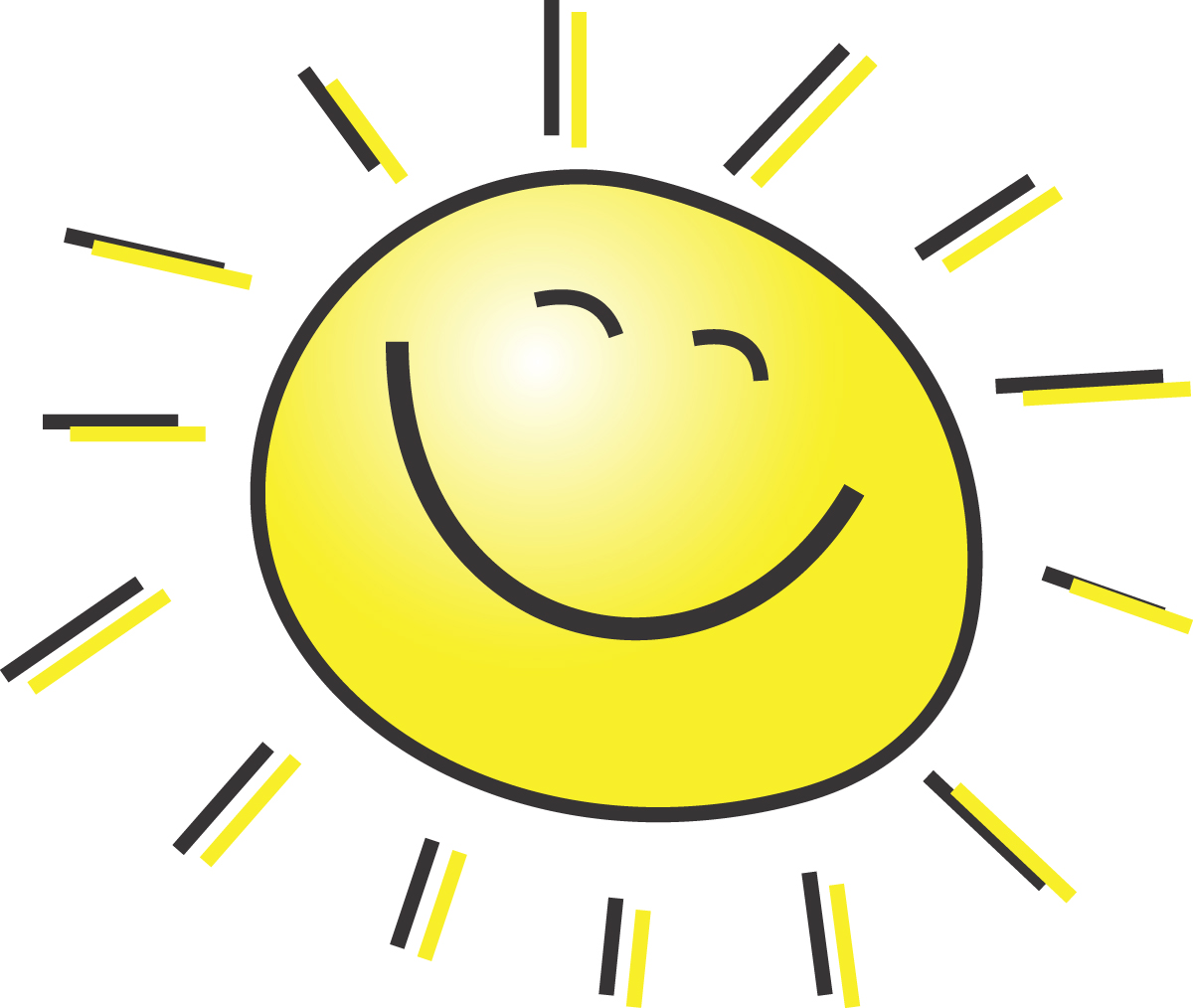 Sunshine cute sun with sungla - Free Sun Clip Art