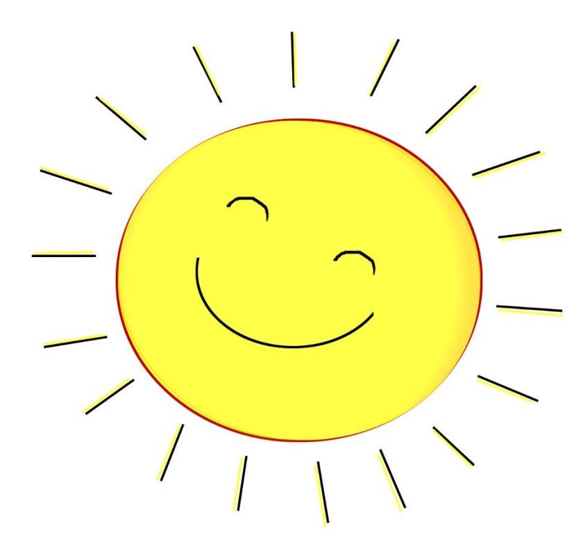 Sunshine sun clip art black and white free clipart images 2