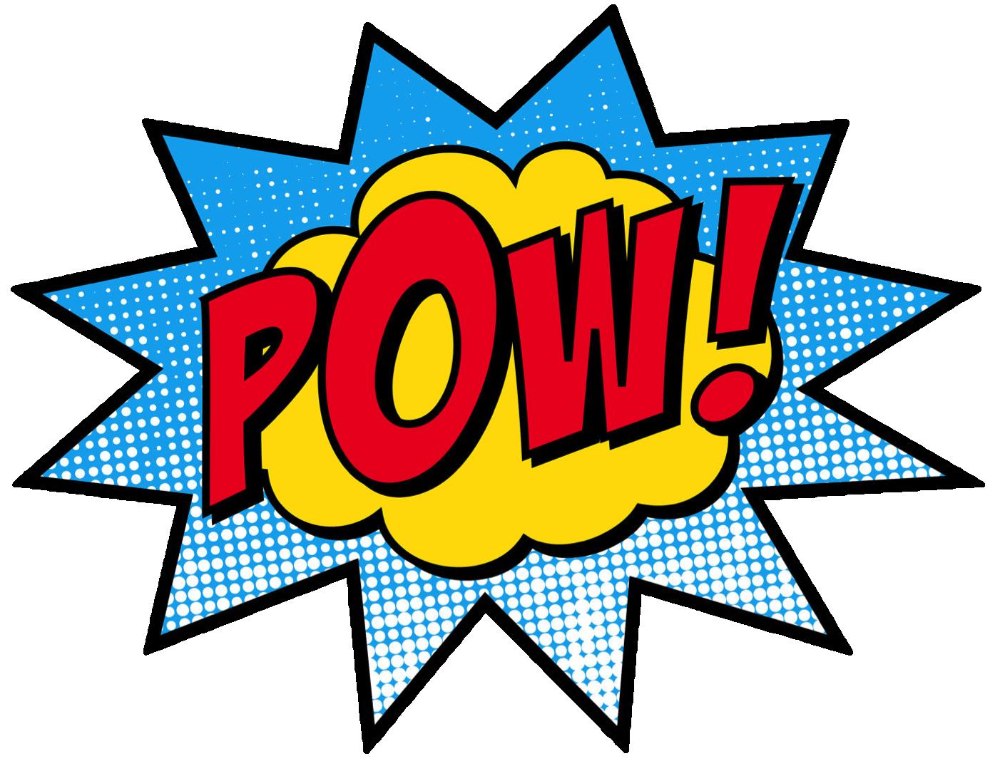 super hero words clip art