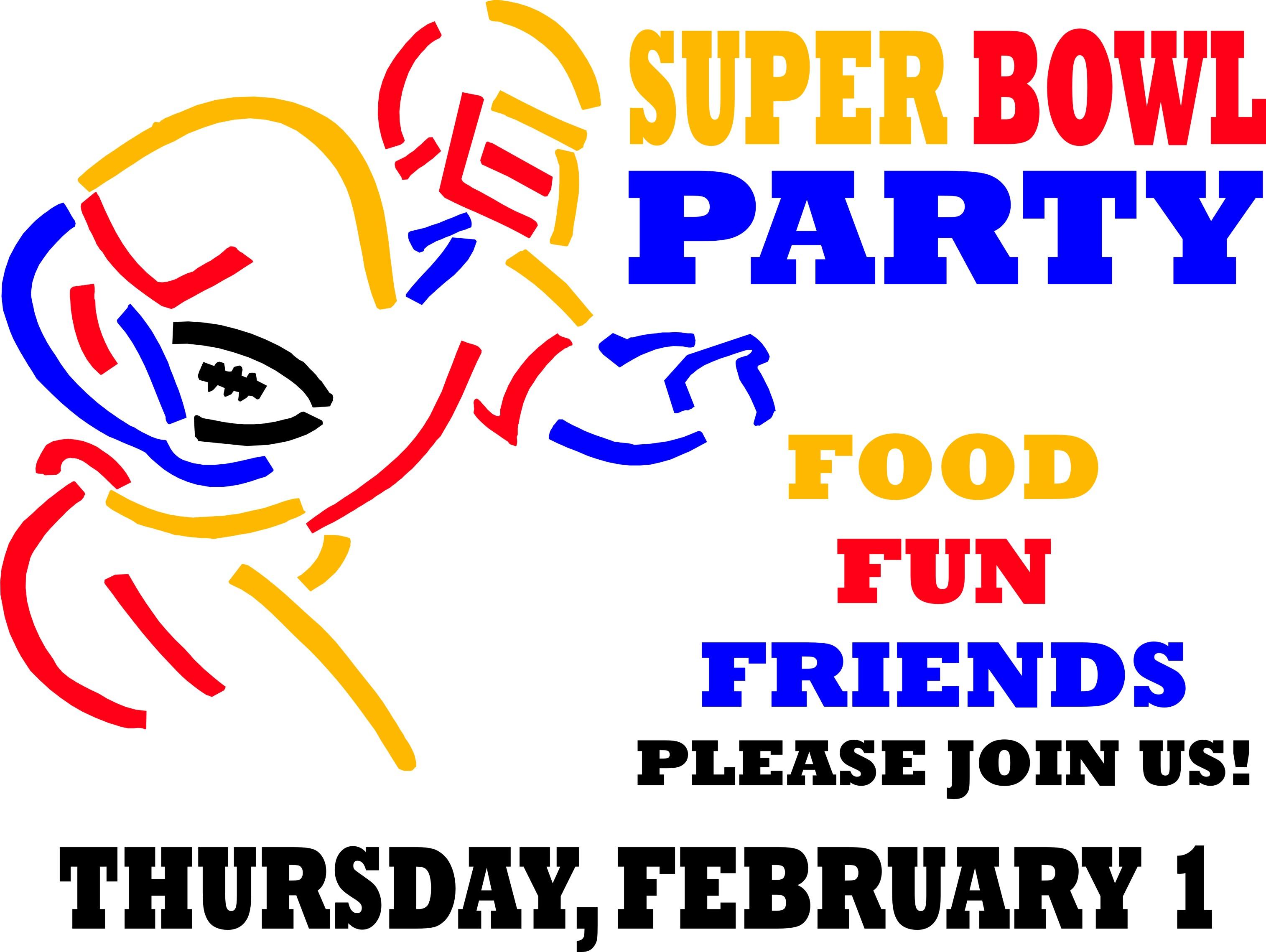 Super Bowl Party Clip Art Super Bowl Party Secondary