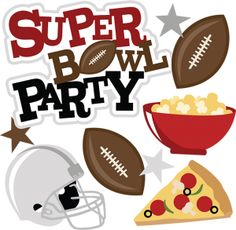 Super Bowl Party Free Clipart - Super Bowl Clip Art Free