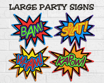 Super Hero Words Clip Art ..