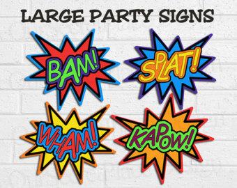 Super Hero Words Clip Art ..