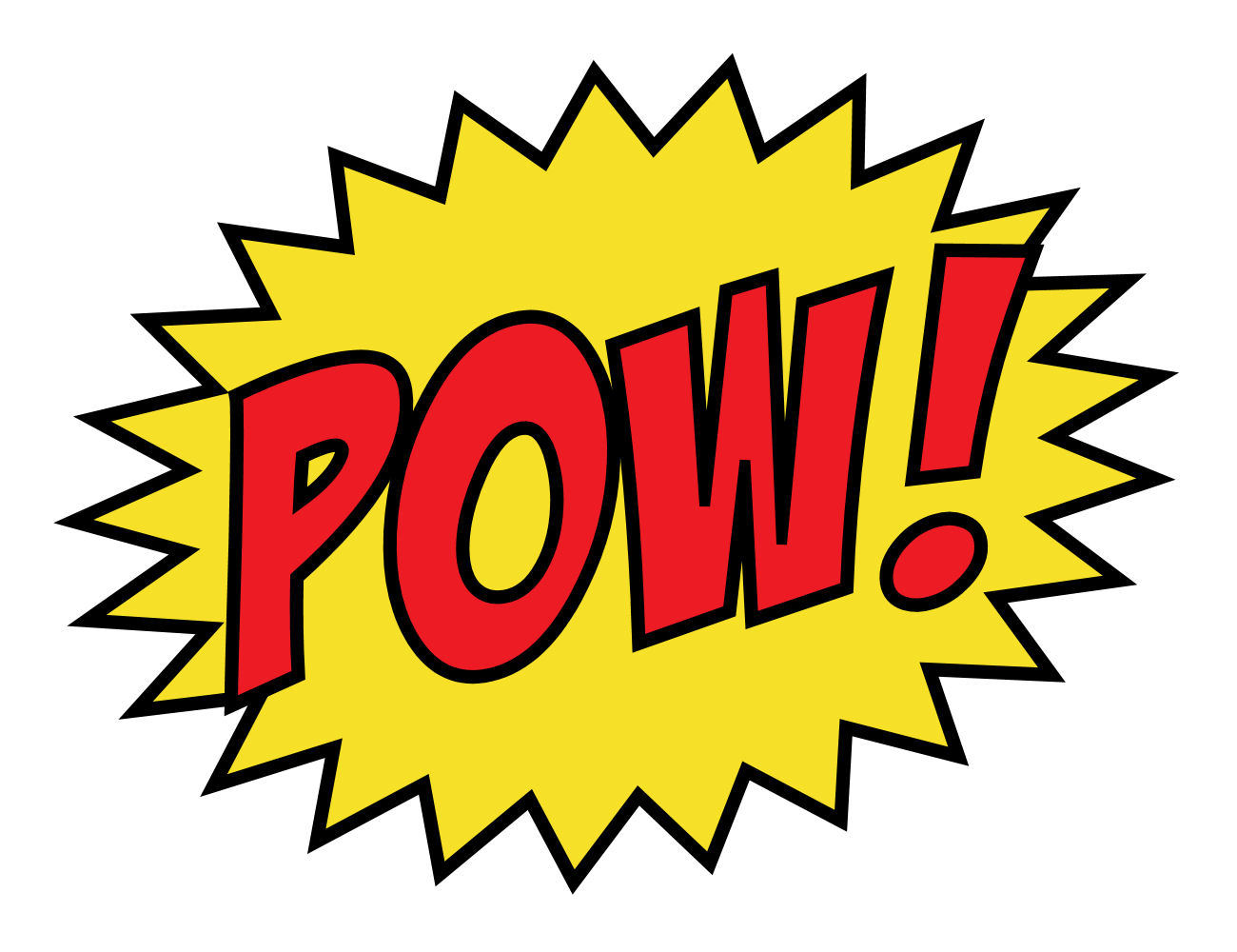 Super Hero Words Clipart