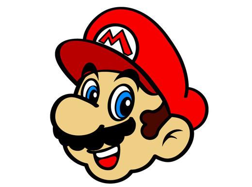 Super Mario Face Clipart #1