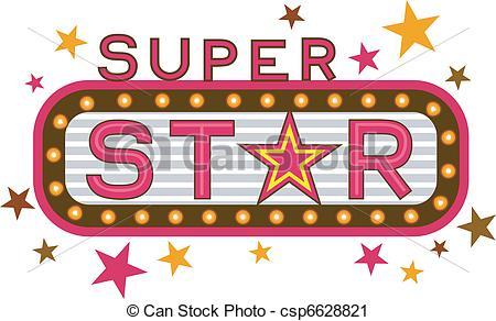 Super Star - Illustration Fea - Super Star Clip Art