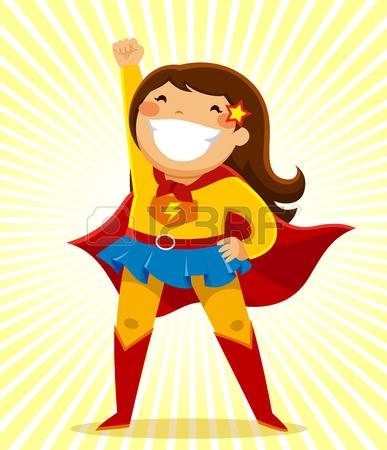 little girl in a superhero co - Supergirl Clipart