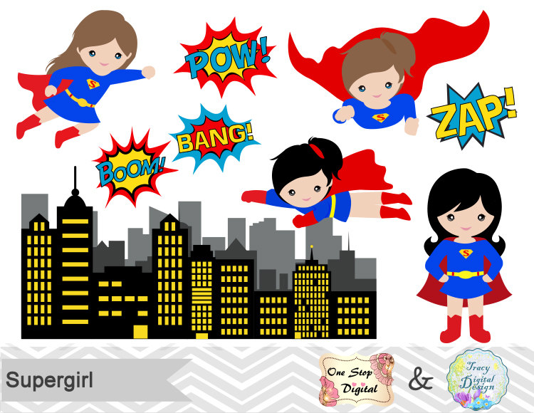 ????zoom - Supergirl Clipart