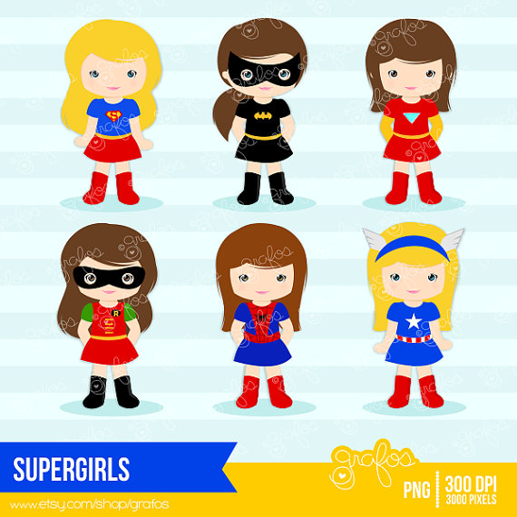 SUPERGIRLS Digital Clipart ,Superhero Cl-SUPERGIRLS Digital Clipart ,Superhero Clipart , Girls Superheroes Clipart / Instant Download | Super Heroes | Pinterest | Awesome, Clip art and Graphics-15