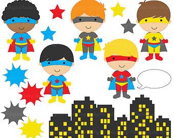 Superhero Clipart Digital Clip .-superhero clipart digital clip .-16