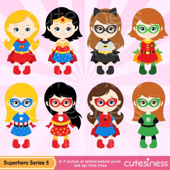 Superhero Girl Digital Clipart, Superher-Superhero Girl Digital Clipart, Superhero Girl Clipart, Supergirl Clipart-17
