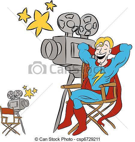 ... Superhero Movie Star - An image of a superhero star sitting.