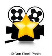 Superhero Movie Star Clipartby cteconsulting1/121; Movie Star - Retro film camera and golden star illustration.