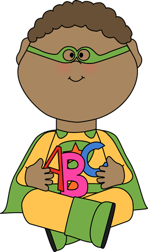 Superhero With Alphabet Letters Clip Art Superhero Boy Flying Image