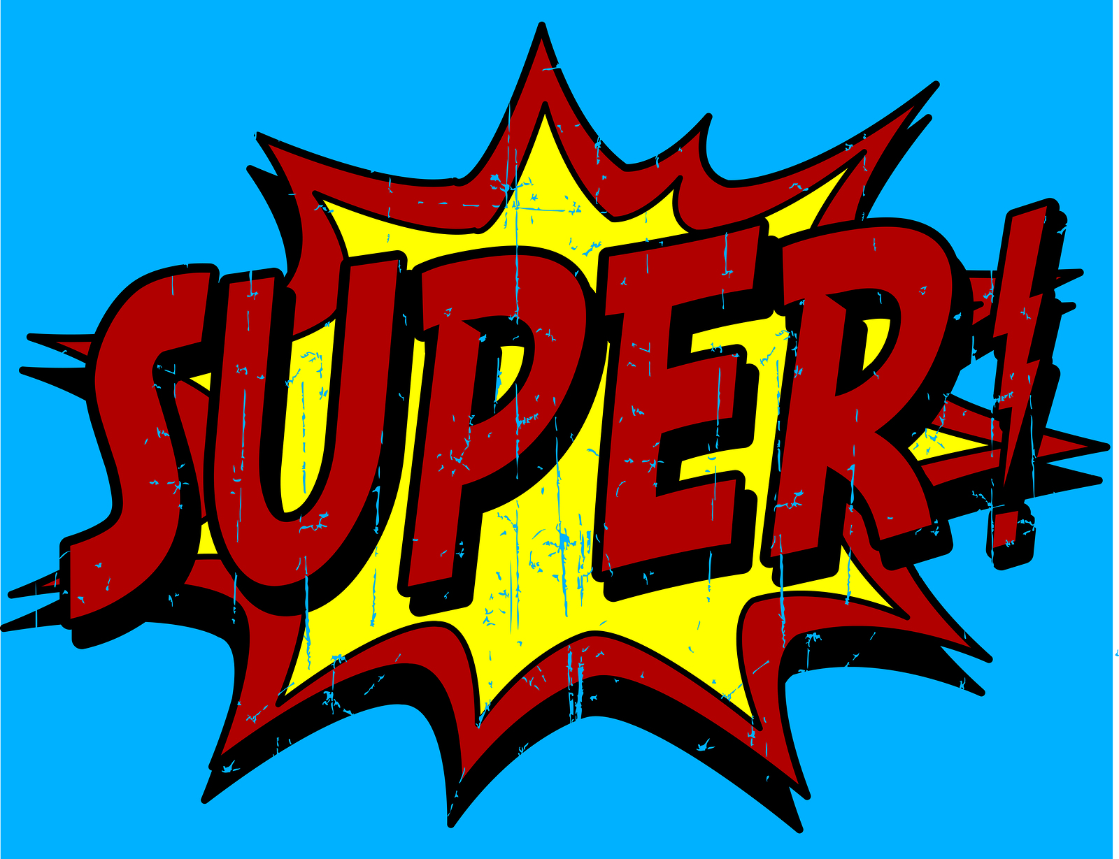 Superhero words clip art 4