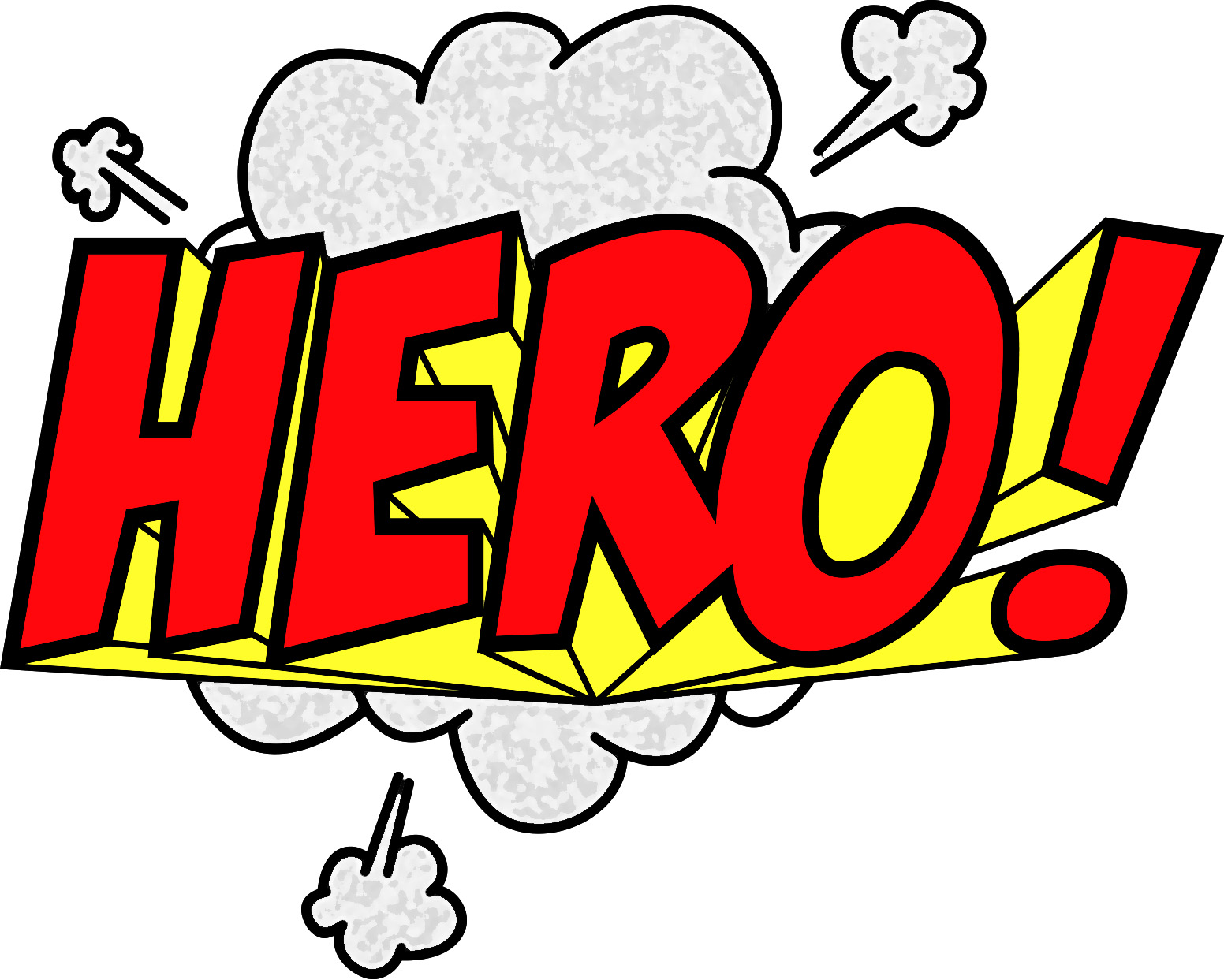 Superhero words clipart 5
